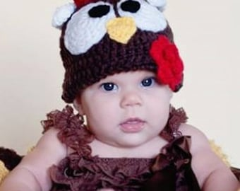 Turkey Crochet Kids Hat