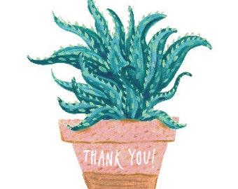 Aloe Vera Thank You Card