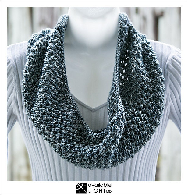 COWL KNITTING PATTERN - Chainmail (add-on variation for Concertina Cowl) from...