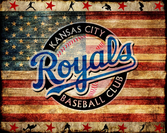 Man Cave Decor Store Kansas City : Kansas city royals poster baseball decor us flag dc man