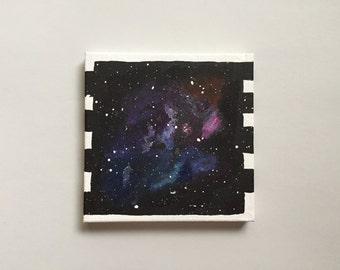 Celestial Mini Handpainted Acrylic Painting - Galaxy, Stars, Universe, Cosmos