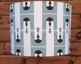 Charley Harper Nurture-Brrrthday fabric Covered Lampshade.