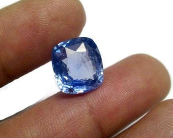 50% Discount Valentine Sale Best Offer Natural 6 ct Ceylon Blue Sapphire Cushion Cut Birthstone Loose Gemstone