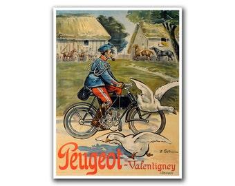 Bicycle Poster Vintage Bike Decor Cycling Poster Retro Print (H285)