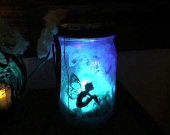 Sale. Fairy Jar. Magical Night Light/fae/fairy/pixie