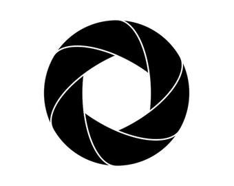Aperture, Camera Shutter Symbol - Car/Truck/Home/Laptop/Computer/Phone Decal
