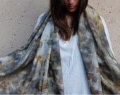 Silk Scarf - Women Fashion Accessories - Gift Idea for Her - Autumn Trends - Violet Fields Scarf