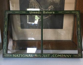 Antique Uneeda Bakers Nabisco Display Case Front