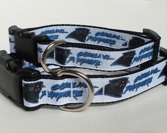 Carolina Panthers Inspired Dog Collar