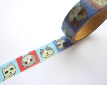 Kawaii Cats Washi Tape 15mm x 5m