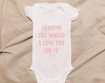 Grandma Onesie, First Grandchild, Soon to be Grandma, Just Like My Grandma, I Love My Grandma Onesie