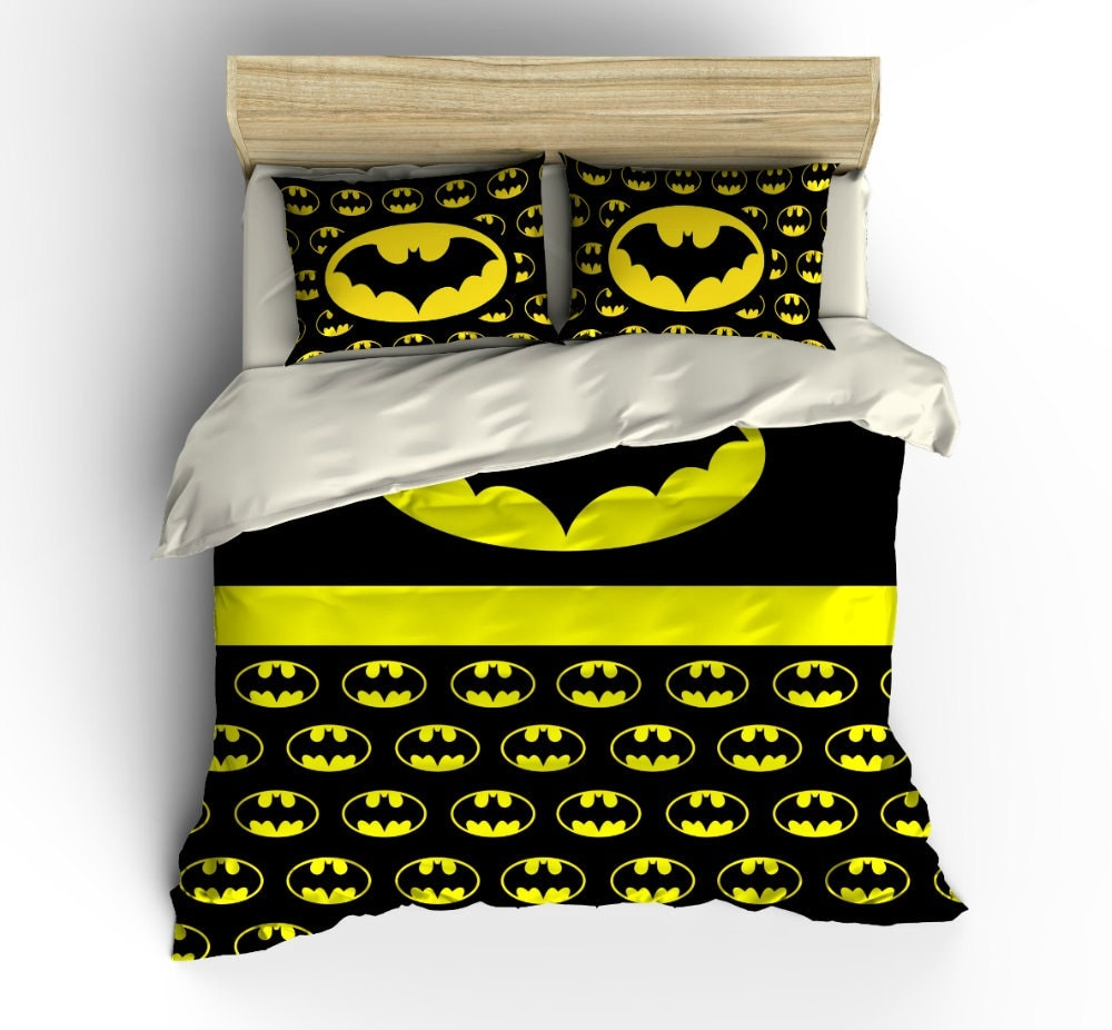 Super Hero Bedding Bat Shield Duvet Set Comforter Cover