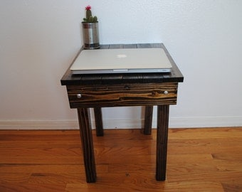Rustic Side Table, End Table, Night Stand 18x15x you choose height