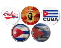 Cuban Pinback Buttons, Cuban Party Favor, Cuba Party, Birthday Gift, Quincereara Party Favor, Cuban Culture, Latino Button Badge - BB2184