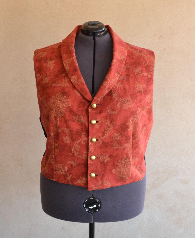 Plus Size Vest Steampunk Victorian Edwardian By