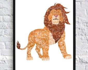 Simba Watercolour - Framed