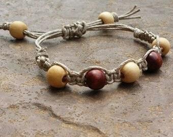 Natural Macrame Bracelet