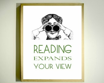 Reading Poster / Classroom Decor / Classroom Poster / Reading Quotes / Educational Posters / Inspirational Print / Library Poster