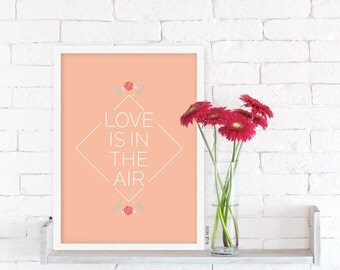 Poster Love is in the air – Format A4