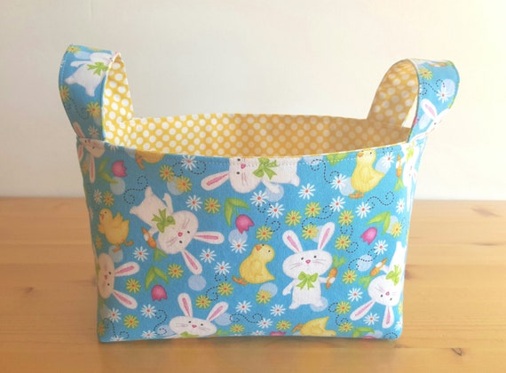 Happy Bunnies Medium Fabric Storage Bin Basket