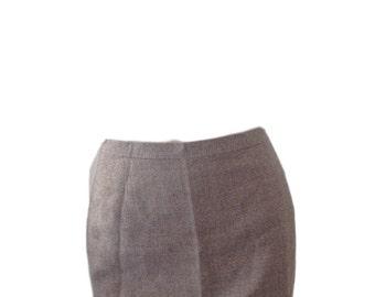 Swinger Pret a Porter Wool Tweed Mini Skirt (Size 42)