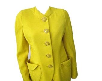 Vintage Mustard Versace 2. Pc. Suit - Size 40