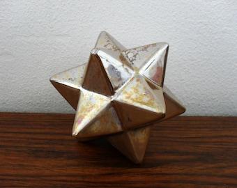 Golden Ceramic Origami Star