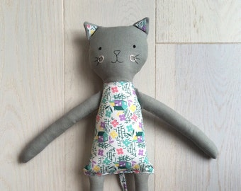 May and Juniper Handmade Children's Cloth Cat Toy - Made to Order