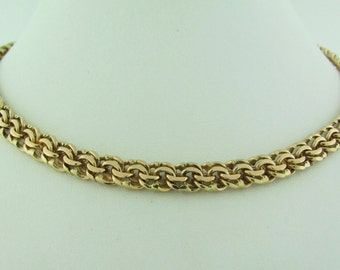 Russian Handmade Rose Gold Heavy Chain Necklace