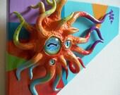 Asymmetrical Geometric Surreal Creature Sculpture