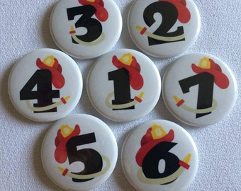 Student Number Magnet Sets - Fireman Set - Counting Magnets - Magnetic Numbers - Homeschool Family