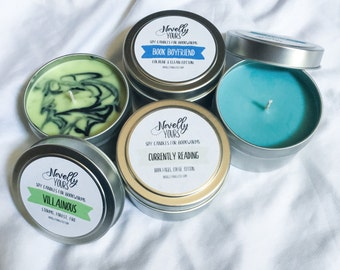 Bookish-Type Candle Set | 4oz soy candles, set of four