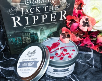 Foggy Knight | 8oz tin | Stalking Jack the Ripper Inspired Soy Candle