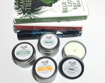 The Raven Cycle Collection | 4oz soy candles, set of four