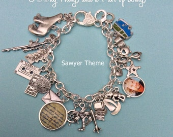 LOST Sawyer Theme Charm Bracelet
