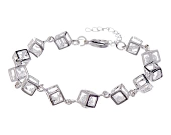Crystal In Cube Bracelet