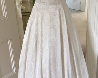 1950s Ivory Bow Vintage Wedding Dress