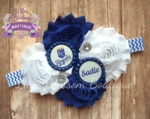 Kansas City Royals Personalized Baby Headband, KC Baseball Girl Bow, Baseball Baby Bow, Royals Baby Girl Outfit, Personalized Baseball Bow