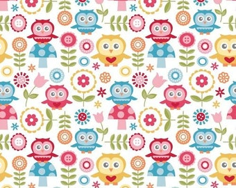 Fine and Dandy Owl Fabric