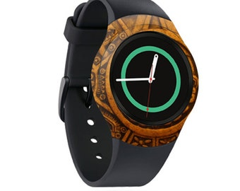 Skin Decal Wrap for Samsung Gear S2, S2 3G, Live, Neo S Smart Watch, Galaxy Gear Fit cover sticker Carved Aztec