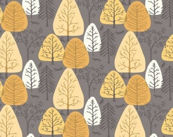 SALE!  Cotton Fabric by the Yard - Quilt Fabric - Woodland Fabric - Timberland - Dear Stella - Forest Trees - Fat Quarter Bundle