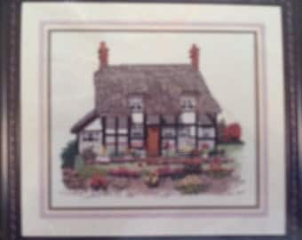 Counted Cross Stitch Kit by Cross My Heart, Inc. ~~ Charming English Countryside Cottage