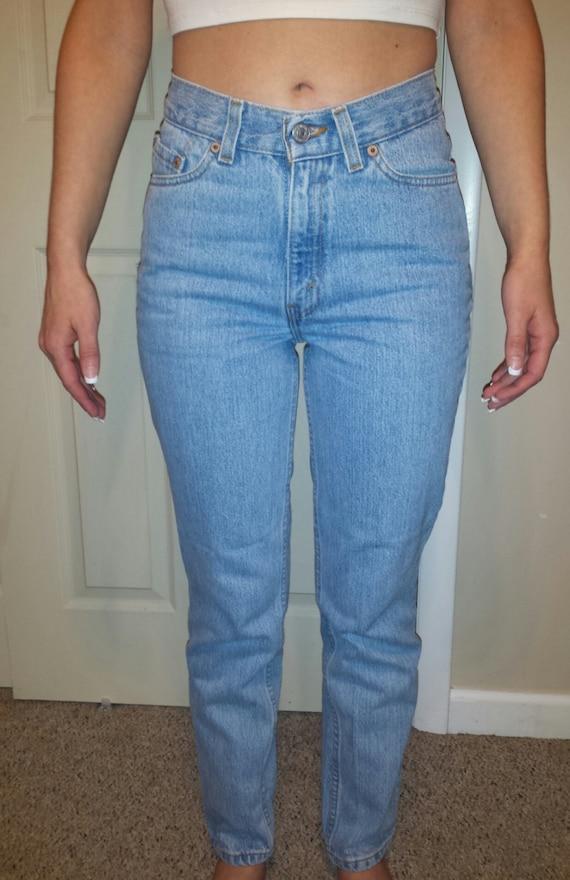 high waist vintage levis denim jeans light blue wash gift. Black Bedroom Furniture Sets. Home Design Ideas