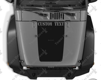 Hood Blackout Custom Text Vinyl Decals Stickers fits: Jeep Wrangler JK TJ LJ
