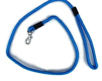 Leash - Blue Rope Dog Leash, Handmade Puppy Lead