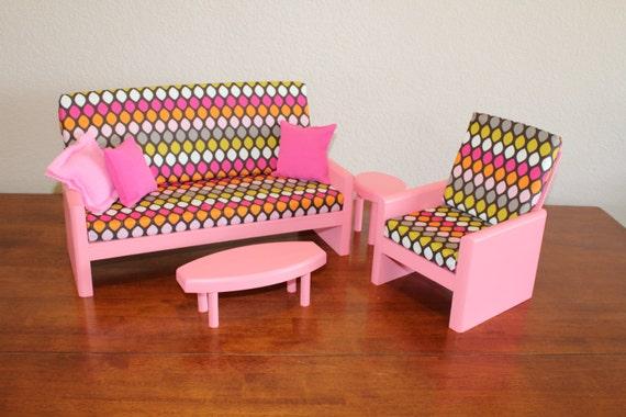 AG or 18 Doll Furniture Pink Living room by CraftsbyDawnandBob