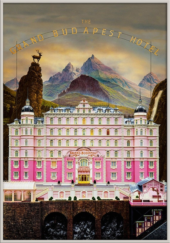 Framed The Grand Budapest Hotel Print v1