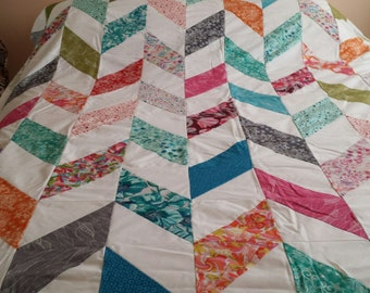 Unfinished queen size quilt top