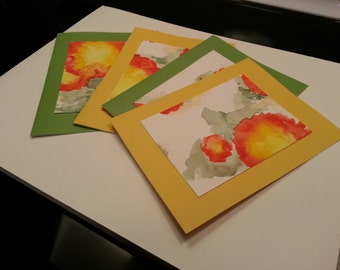 Yellow & Green Poppy Cards