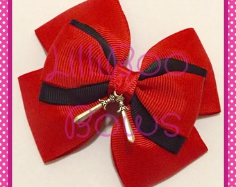 Handmade Deadpool Superhero Inspired Hair Bow